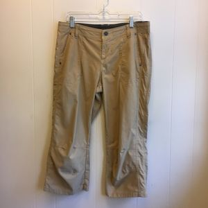 KUHL CROPPED EMBROIDERED HIKING PANTS.  SIZE 12